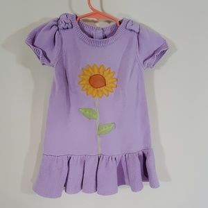 Gymboree purple sunflower sweater dress